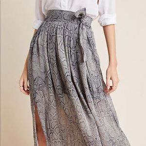 Anthropologie Maeve Collection Midi Skirt